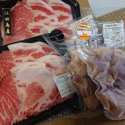 【贈答用などにも】江田島産地鶏と江田島ポークのセット 約1kg(産地直...