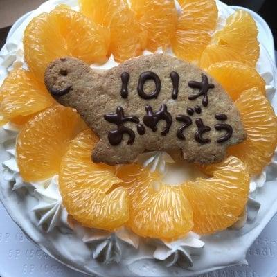 米粉のデコレーションケーキ 16cm
