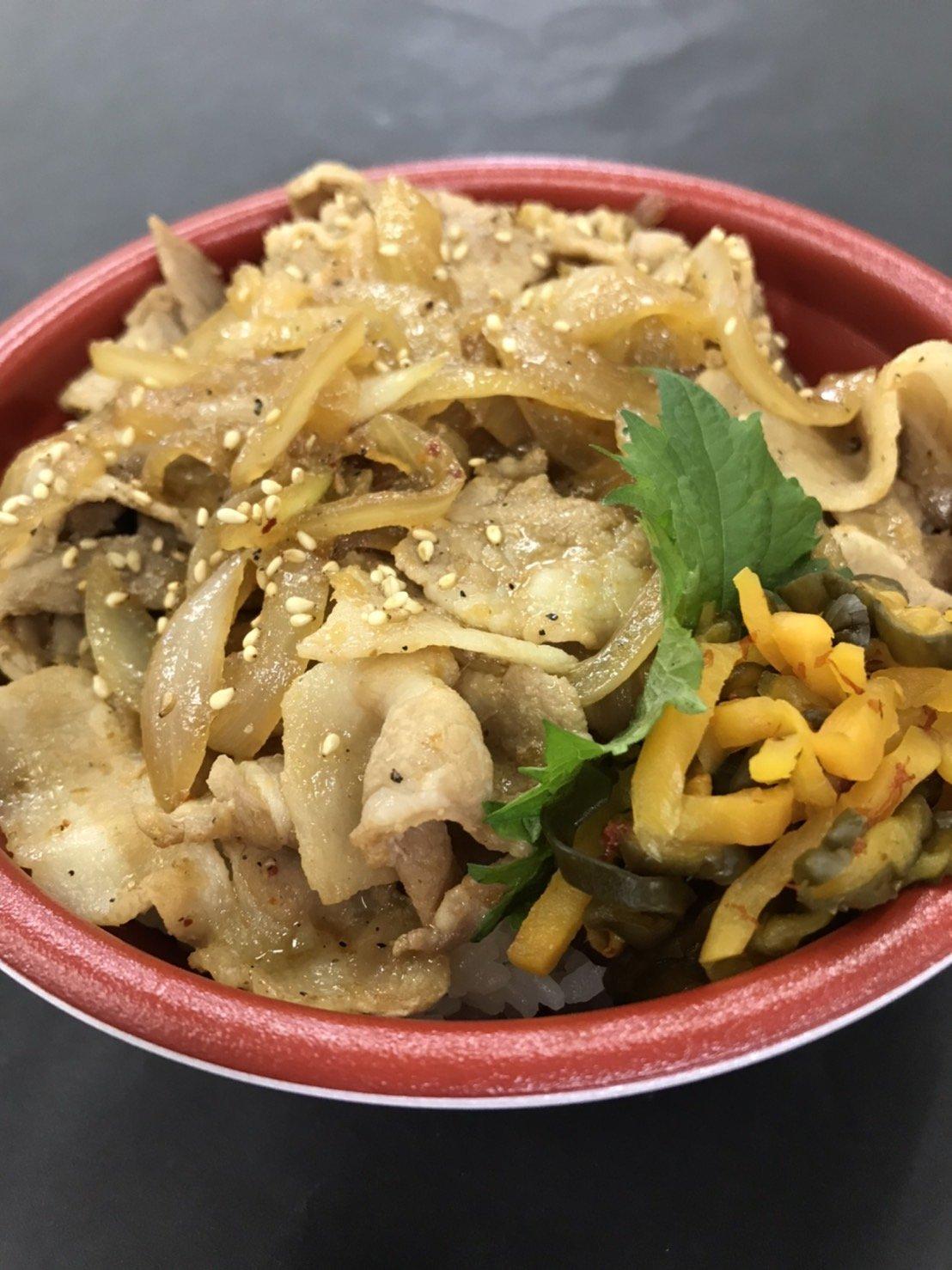 豚バラ肉の生姜焼き丼/七福のイメージその1
