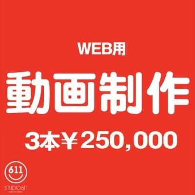 WEB用動画制作3回券