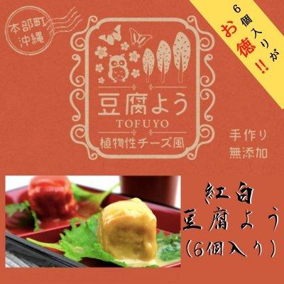 琉球王朝から伝わる高級珍味 もとぶ素材な豆腐よう(紅・白6個入り)