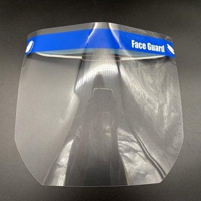 新型コロナウイルス対策に! 飛沫防止に!フェイスガード 5枚入 W300/H265