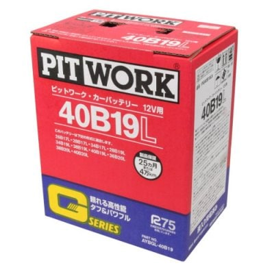 カーバッテリー PITWORK 40B19L 主な互換品番:34B19L/36B19L/38B19L/40B19L 送料無料 北海道沖縄離島除く