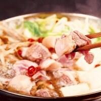 【通販限定‼︎】【かも鍋3〜4人前】(3つに小分けしてます)お肉増量‼︎ちゃんぽん麺付き!