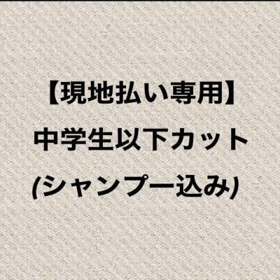 【現地払い専用】中学生以下カット(シャンプー込み)