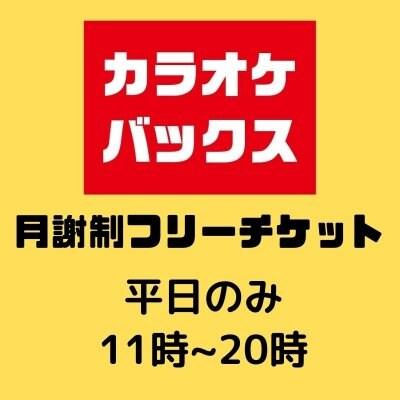 カラオケ|バックス|月謝制フリーチケット(平日のみ)