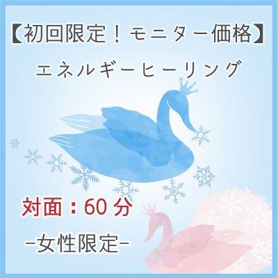 【初回限定モニター12/20迄】エネルギーヒーリング女性限定対面60分/完全予約制