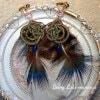 草木色の水引イヤリング「イワナガヒメ」