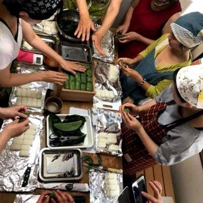 【完売致しました】柿の葉寿司を楽しく作って美味しく食べよう!!1日体験教室!!ランチ付きワークショップ