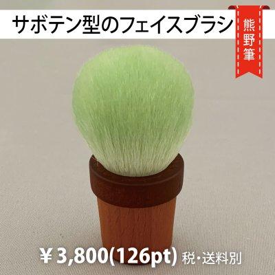 熊野筆・サボテン型のフェイスブラシ