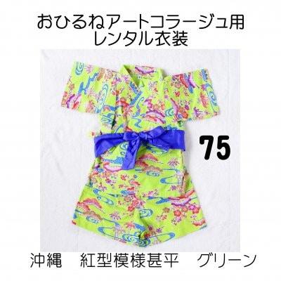 グリーン・75サイズ/おひるねアートコラージュ用レンタル衣装