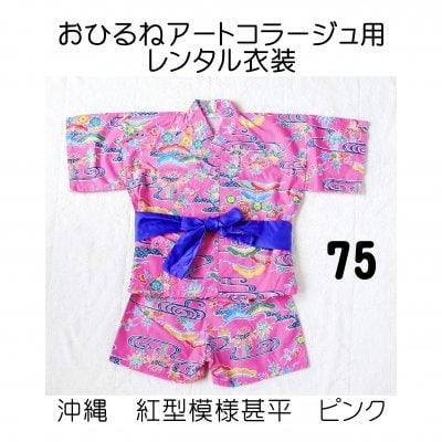 おひるねアートコラージュ用レンタル衣装 ピンク・75サイズ