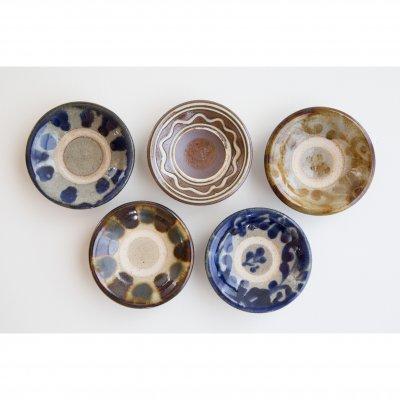 3寸皿 絵付け5種類 5枚セット