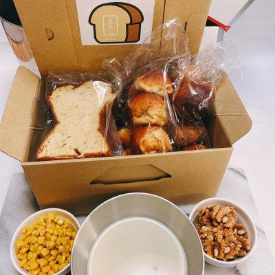 大豆なコーン食パン 1斤/大豆な丸パン 8個 /大豆なくるみ丸パン 8個
