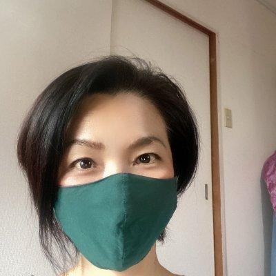 防災アイテムEPIマスク:抗菌リバーシブル 白:緑