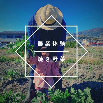 農業体験、焼き野菜体験