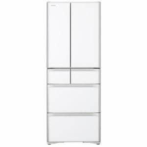【送料無料】《475L》日立 R-X48N XW 6ドア冷蔵庫 (フレンチドア) クリスタルホワイト