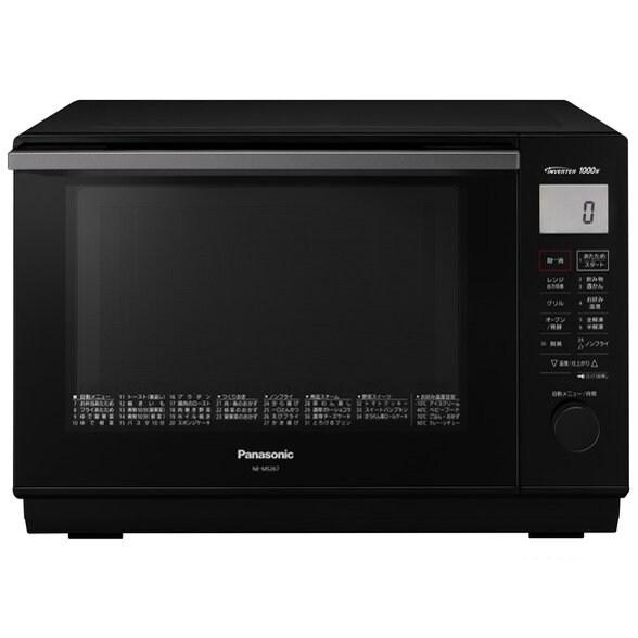 パナソニック 電子レンジ オーブンレンジ NE-MS267-K エレック 1段調理タイプ 26L ブラックのイメージその1