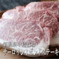 中島牧場牛サーロイン1ポンドステーキ 誰もが好きなサーロインステーキ!今だけ価格!1ポンドは450g!二人でも大満足のボリューム!