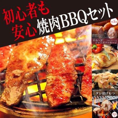 """初心者向け焼肉BBQセット! 大人気の""""ハラミ""""入り!贈答用にも!総重量..."""