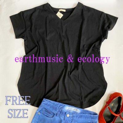 アースミュージックエコロジー earth music&ecology Vネックカットチュニック/FREE SIZE