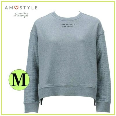 AMO's STYLE AMO ACTIVE アモスタイルアクティブ バイ トリンプ スウェットシャツ/Mサイズ グレー