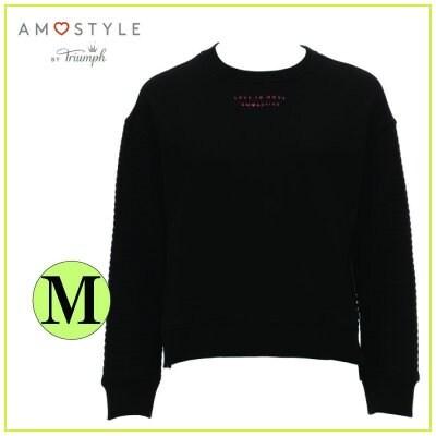 AMO's STYLE AMO ACTIVE アモスタイルアクティブ バイ トリンプ スウェットシャツ/Mサイズ ブラック