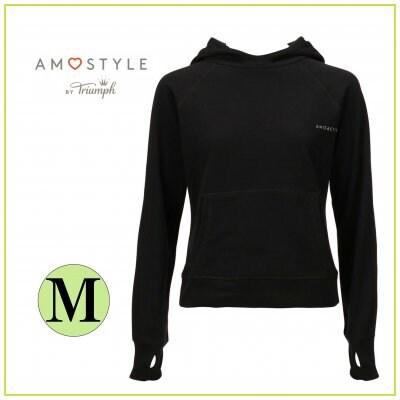 AMO's STYLE AMO ACTIVE アモスタイルアクティブ バイ トリンプ スポーツフーディー/Mサイズ ブラック