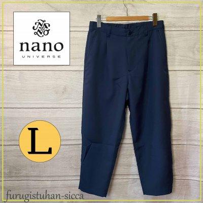 nano universe ナノユニバース メンズ ゆったり夏生地カジュアルパンツ/Lサイズ