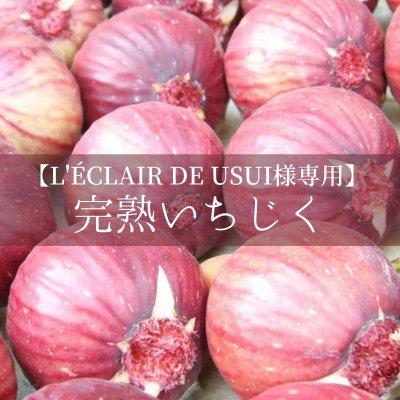 【L'ÉCLAIR DE USUI様専用】完熟いちじく 3箱