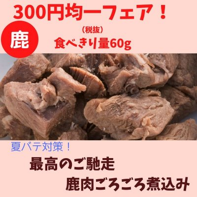 🐶わんこ用/300円均一フェア!最高のご馳走!鹿肉ごろごろ煮込み