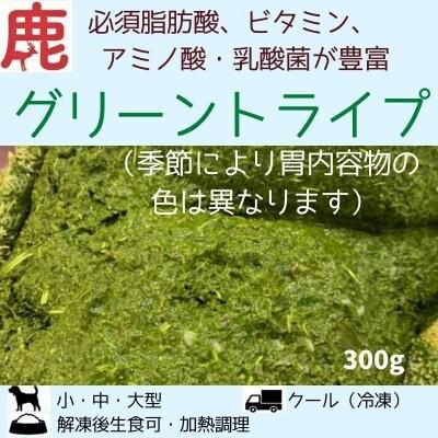 わんこ用/鹿グリーントライプ(胃内容物)300g
