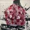 オリジナル ハンドメイド マスク 【大きいサイズ】 レッド 総柄 デザイン