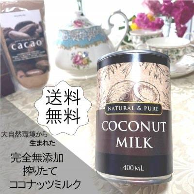 ココナッツミルク400cc 大自然から生まれた完全無添加・搾りたてのココナッツミルク