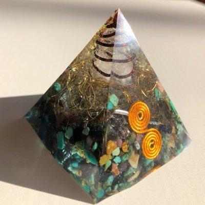 オルゴナイト(ターコイズ:成功・繁栄・旅の安全)