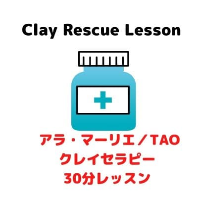 【オンライン又はメールでレッスン30分・お助けクレイクラフト】今必要、クレイでケアしたい。応急処置!