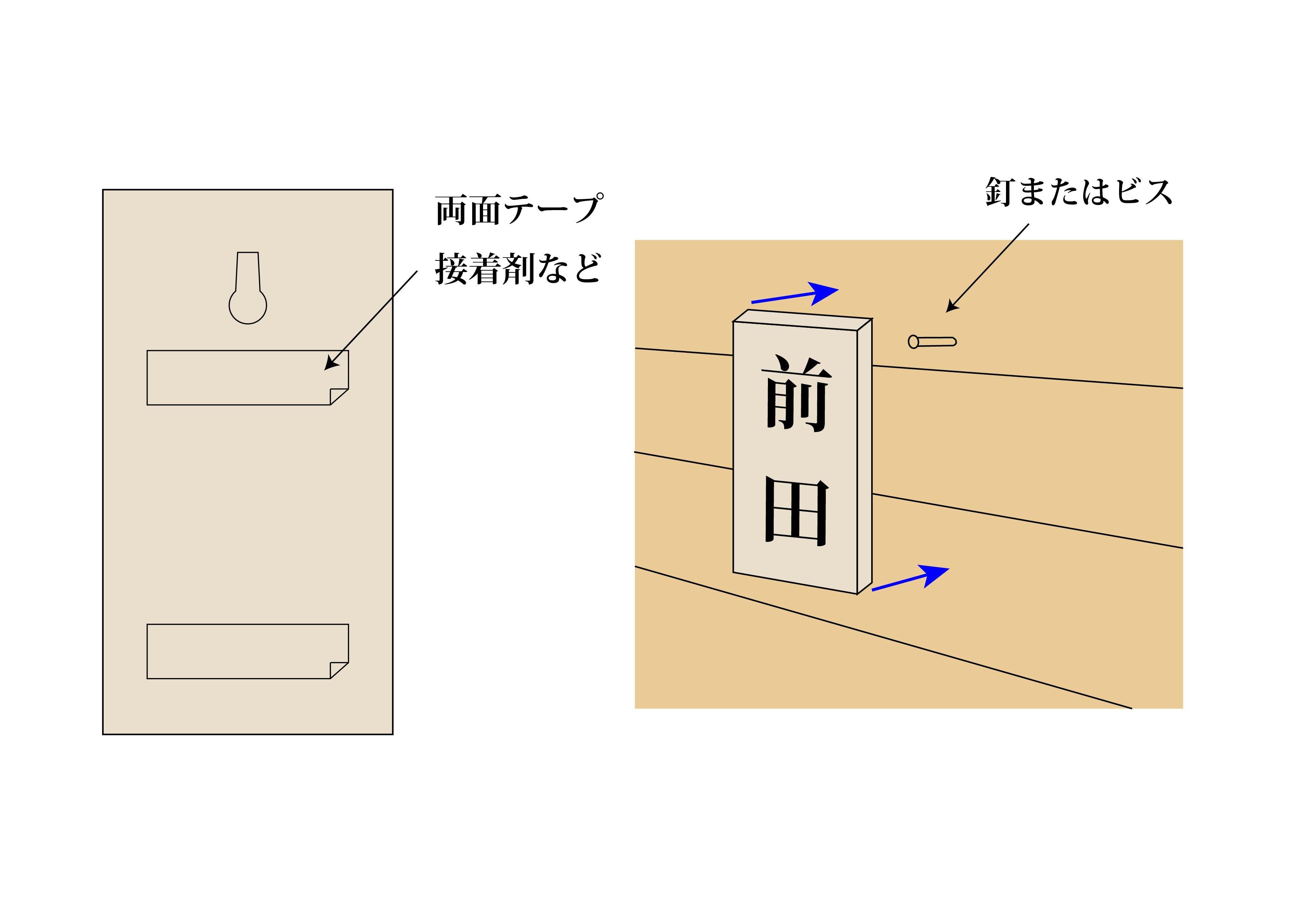 手彫り表札(家紋あり) ケヤキのイメージその5