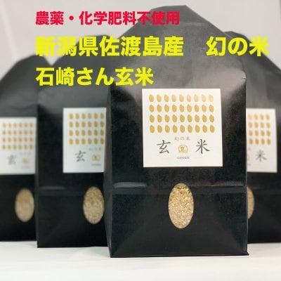 【農薬・化学肥料不使用】 新潟県佐渡島産 石崎さんの玄米 2kg 『数量限定』