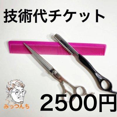 [複製]みっつんち技術代チケット2500円