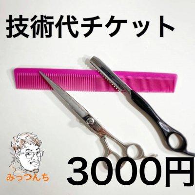 みっつんち技術代チケット3000円