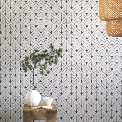 【2色】ドイツ製 貼って剥がせる輸入壁紙 rasch クロス 折り紙のような柄