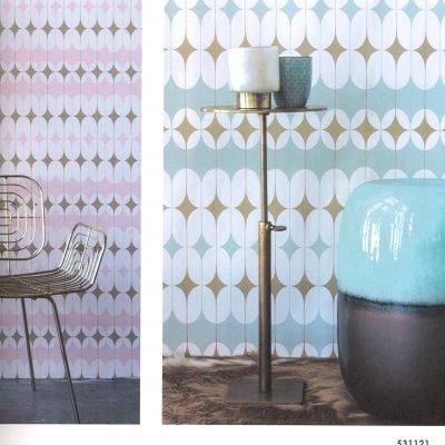 【2色】ドイツ製 貼って剥がせる輸入壁紙 rasch クロス 北欧風 北欧デザイン