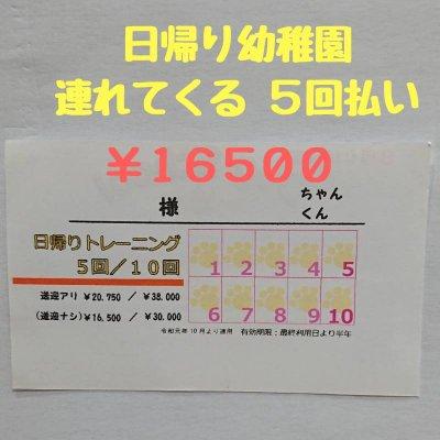 日帰り幼稚園 【連れてくる】5回セット 16500円カードの引換券