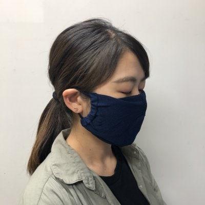 【送料無料】大人サイズ 涼しくて爽やかコットンメッシュマスク3枚セット
