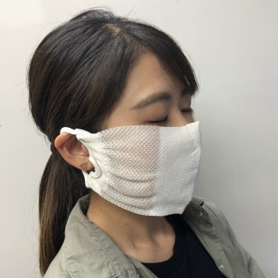 【送料無料】大人サイズ 涼しくて爽やかシルク素材マスク1枚~