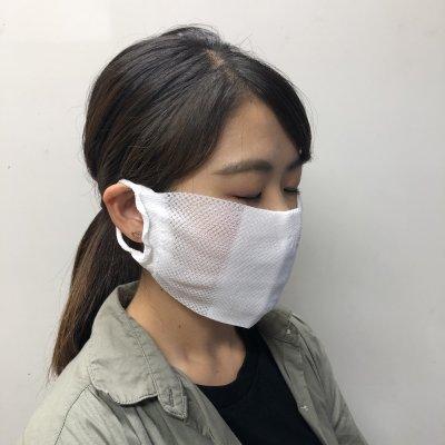 【送料無料】大人サイズ 涼しくて爽やかポリエステルメッシュマスク3枚セット