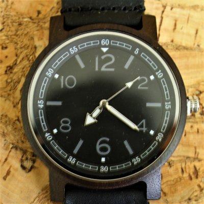 【木の腕時計】天然木×本革 木のぬくもり 優しい感触 メンズ レディース 革バンドの色も選択可♪ 金属アレルギーで腕時計を諦めていた方にも【EK】