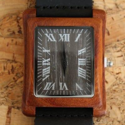 【木の腕時計】天然木×本革 木のぬくもり 優しい感触 メンズ レディース 革バンドの色も選択可♪ 金属アレルギーで腕時計を諦めていた方にも【EL】