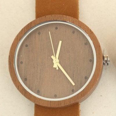 [複製]【木の腕時計】天然木×本革 木のぬくもり 優しい感触 メンズ レディース 革バンドの色も選択可♪ 金属アレルギーで腕時計を諦めていた方にも【ET】