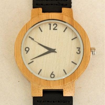 【木の腕時計】天然木×本革 木のぬくもり 優しい感触 メンズ レディース 革バンドの色も選択可♪ 金属アレルギーで腕時計を諦めていた方にも【EX】